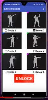 emote Free Fire Unlock app