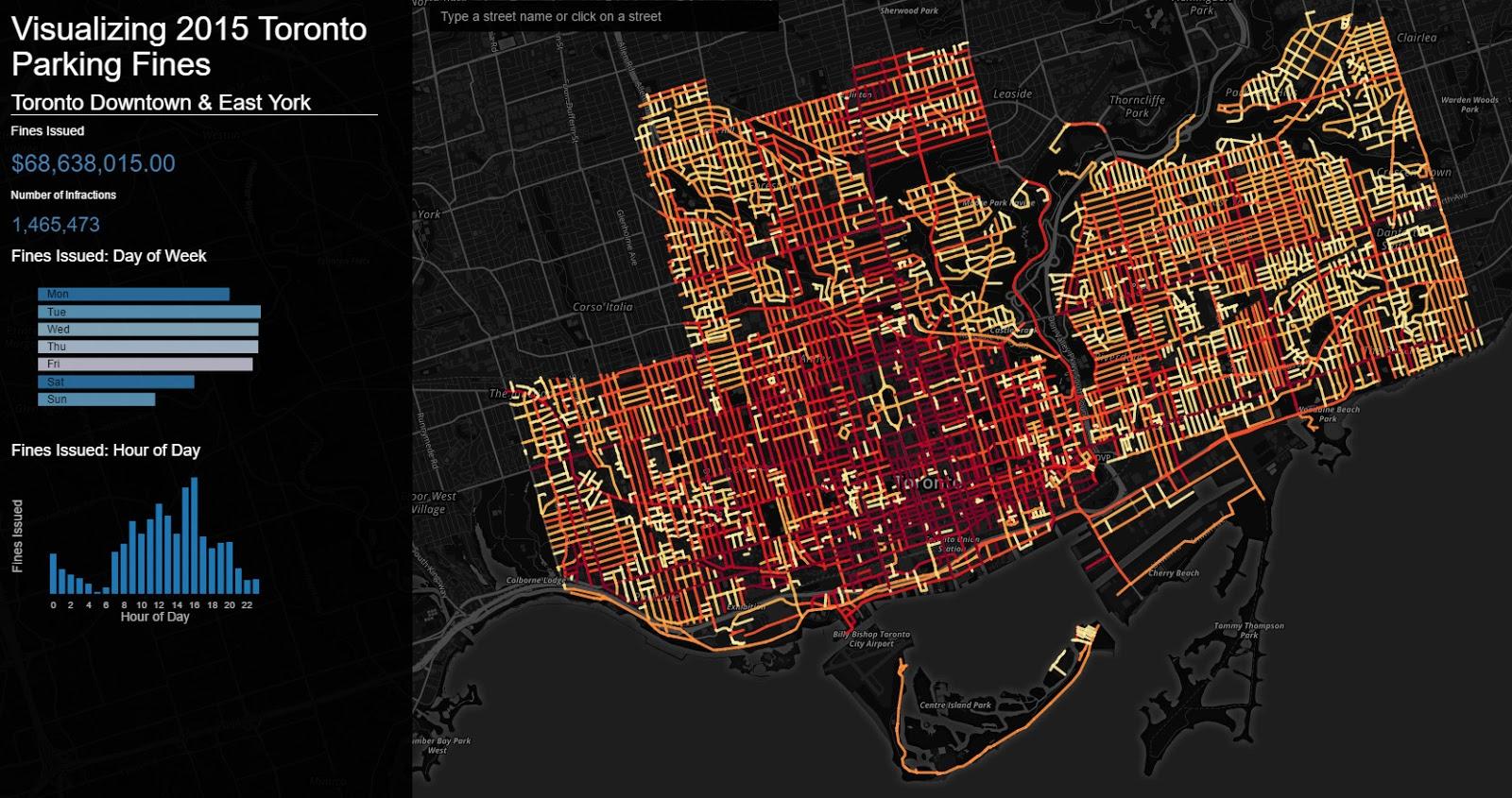 Visualizing Toronto parking fines