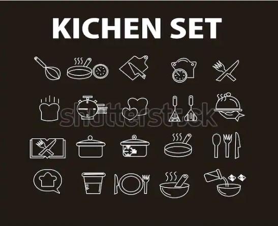 illustration design kichen set