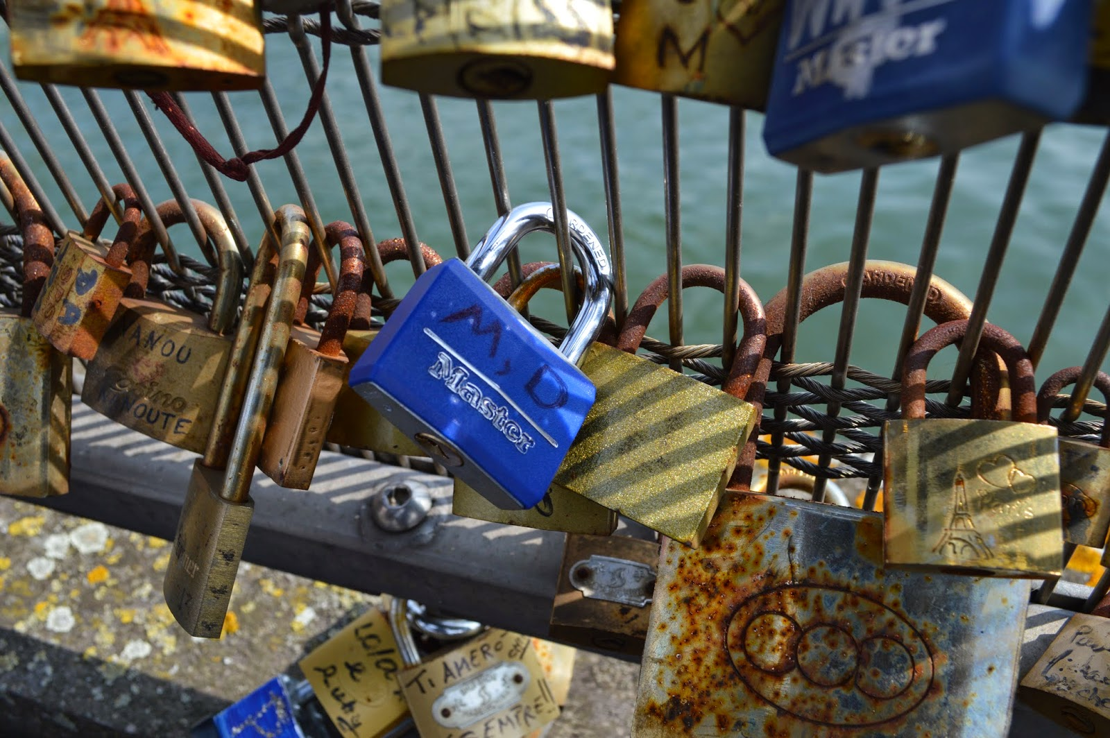 Marifer and David's Love lock. Paris