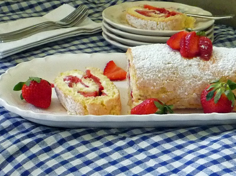 Jelly Roll Recipe Using Cake Flour: Life Tastes Good: Strawberry Jelly Roll Cake Recipe