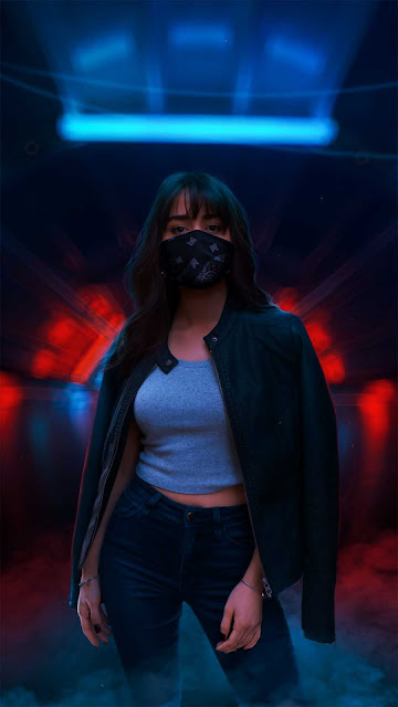 20 Neon Mask in Night City Wallpapers HD 4K for Android and iPhone