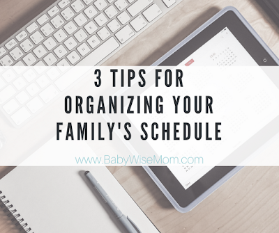 Tips for Organizing Your Family Schedule