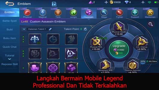 Langkah Bermain Mobile Legend Professional Dan Tidak Terkalahkan