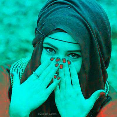 unique color muslim girls dp