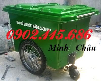 pts thung rac banh hoi 240l 6056 - Xe gom rác 660l 3 bánh hơi, Xe gom rác 660L nhựa composite, Xe chở rác 660L 3 bánh, Xe rác 660L nhựa 3 bánh,