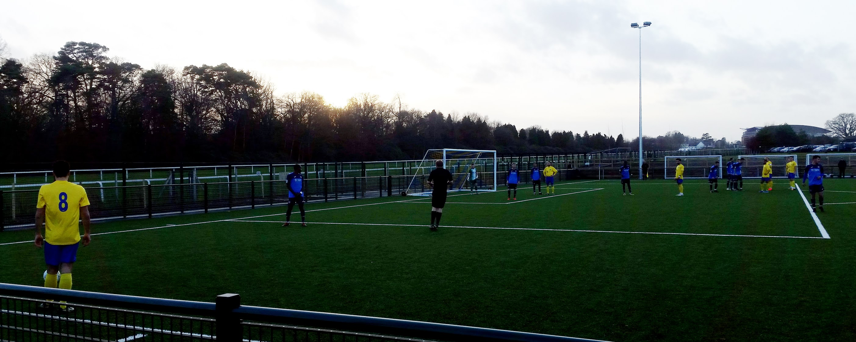 Overlooking the Ascot Racecourse during an Ascot United game
