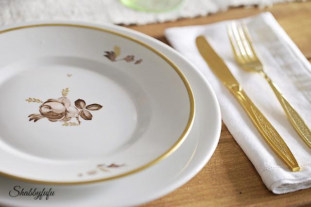 Thanksgiving dishes transferware