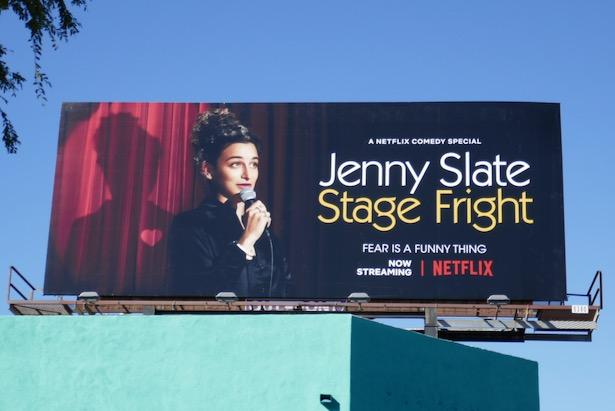 Jenny Slate Stage Fright billboard