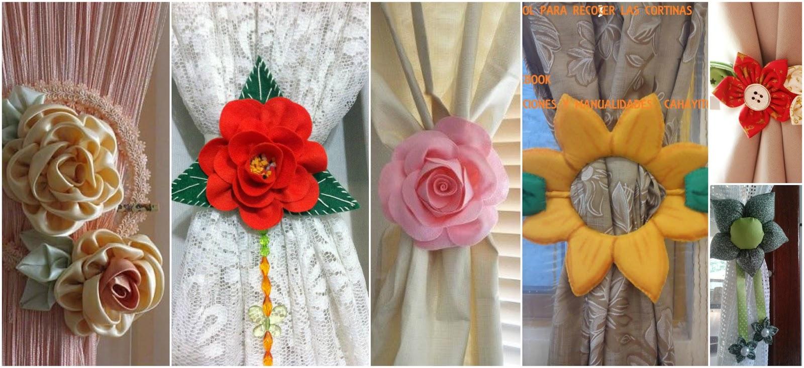 13 ideas hermosas de sujeta cortinas con forma de flor - Formas de cortinas ...