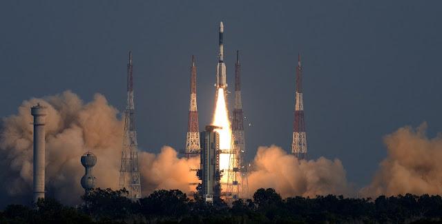 GSLV-F11 liftoff. Credit: ISRO