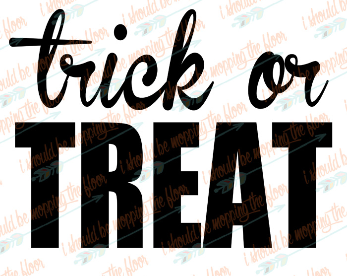 Trick or Treat SVG Cut File