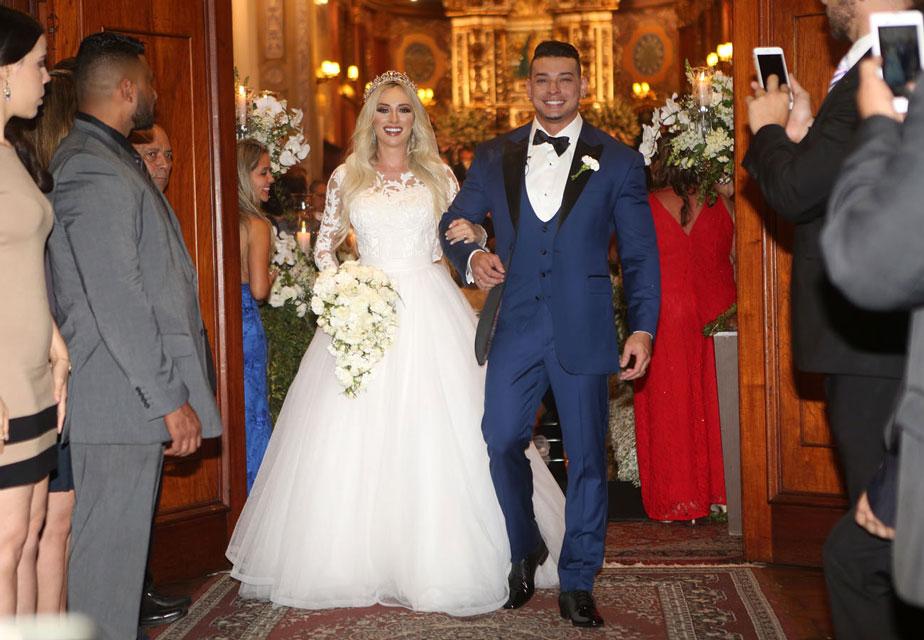 Casamento de Juju Salimeni e Felipe Franco na Paróquia Nossa Senhora do Brasil, em setembro de 2015. Foto: Iwi Onodera/EGO