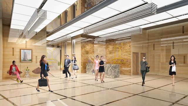 Sảnh văn phòng và trung tâm thương mại mua sắm tại Golden Field