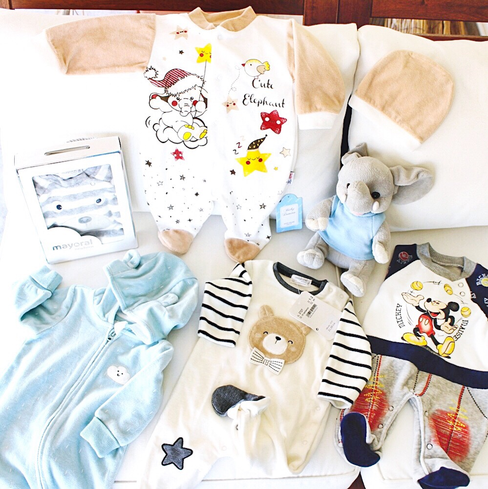 velour bodysuits and pj for newborn; plisane pidzame i odeca za bebe