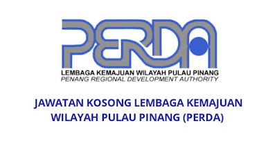 Jawatan Kosong PERDA 2019 Lembaga Kemajuan Wilayah Pulau Pinang