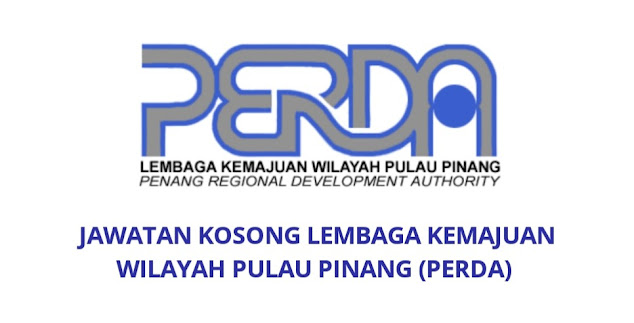Jawatan Kosong PERDA 2021 Lembaga Kemajuan Wilayah Pulau Pinang