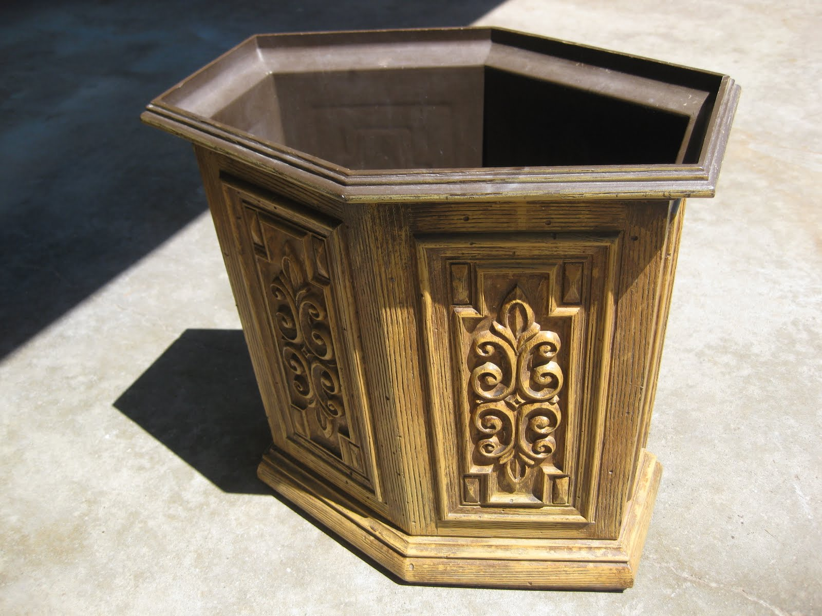 The Original Wastebasket Was Not Very Cute But Makes For Perfect Canvas To Antique