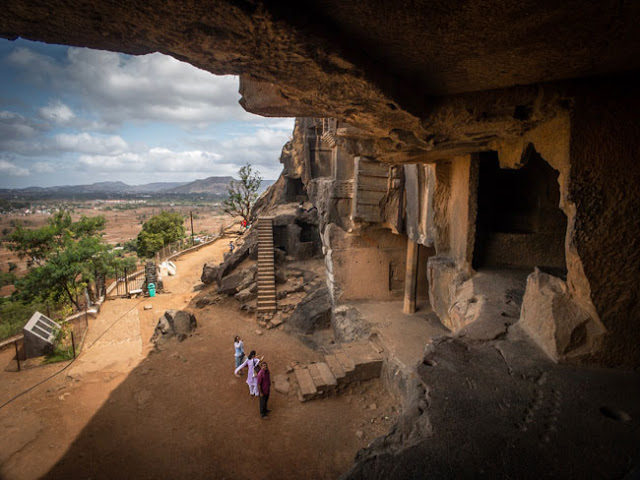 bhaja buddhist caves lonavala inside photo