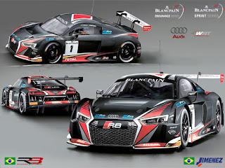 Audi R8 LMS dos brasileiros Sérgio Jimenez e Rodrigo Baptista