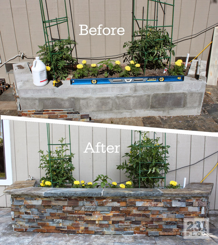 Diy Concrete Planter Box: 231 Designs: DIY SLATE LEDGE STONE PLANTER BOXES