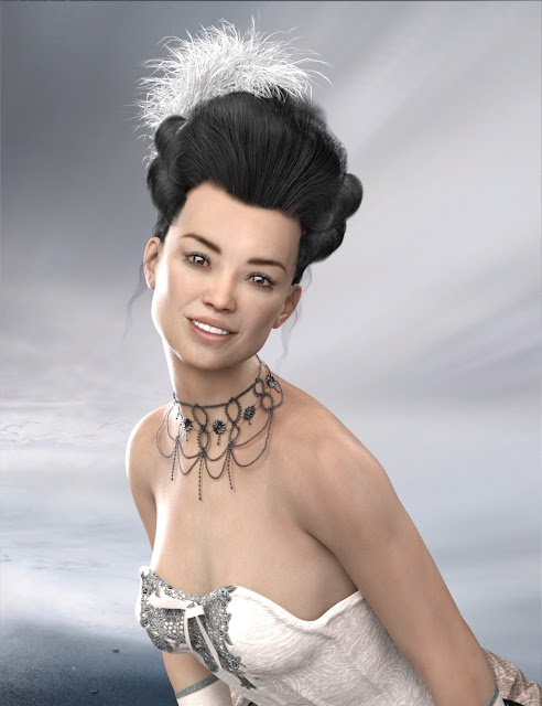 Historical Hair for Genesis 8 and 3 Female