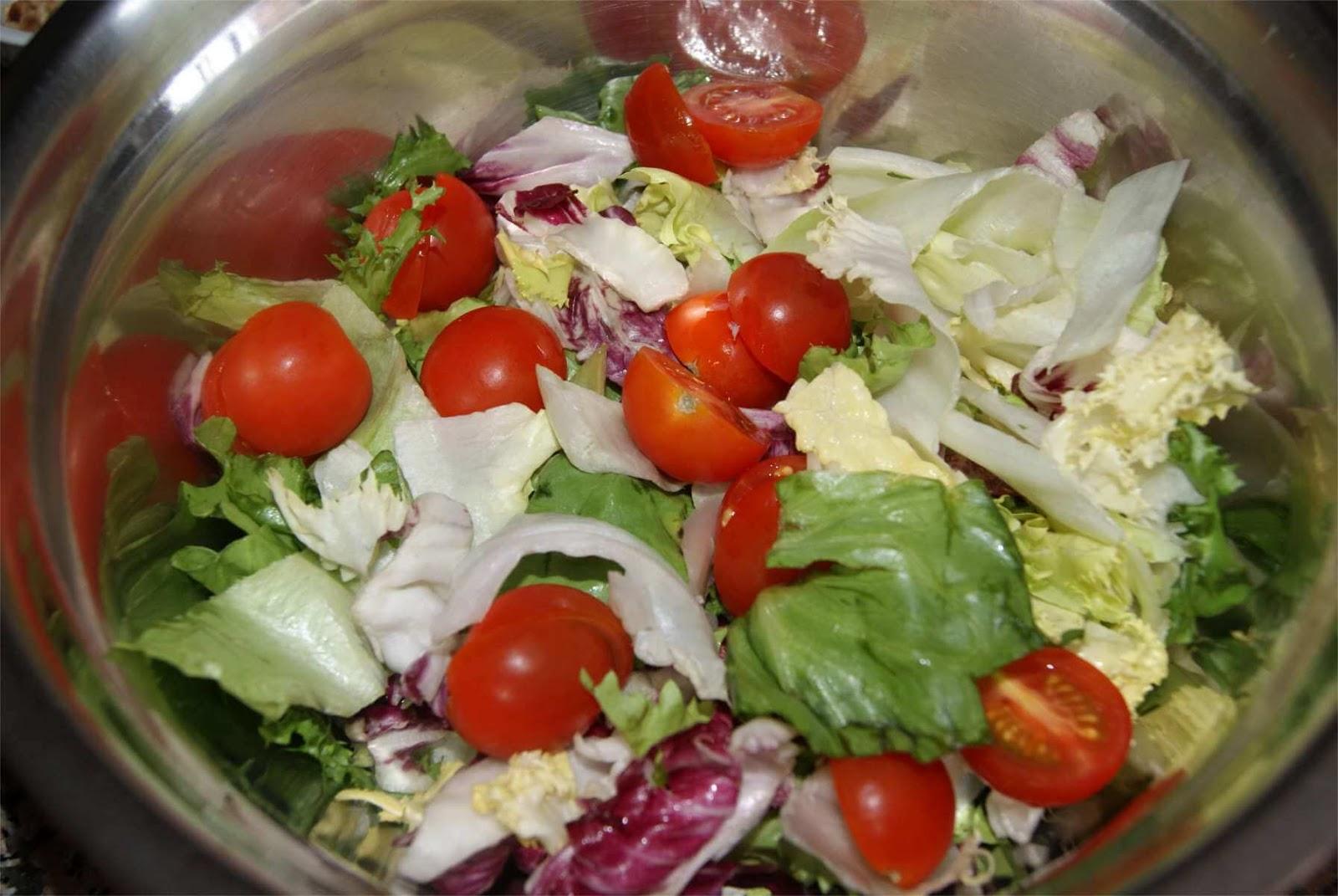 receta de ensalada con vinagreta de melocotón paso 3