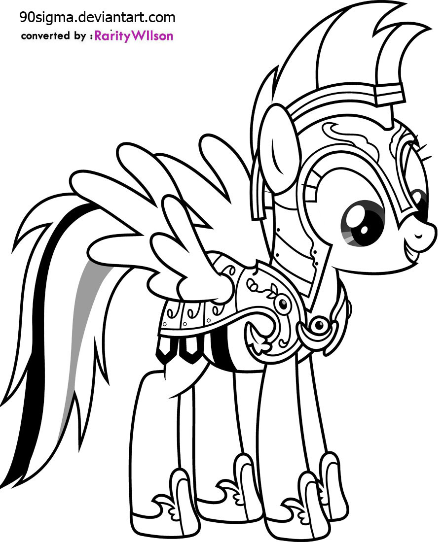 My Little Pony Rainbow Dash Princess Coloring Pages