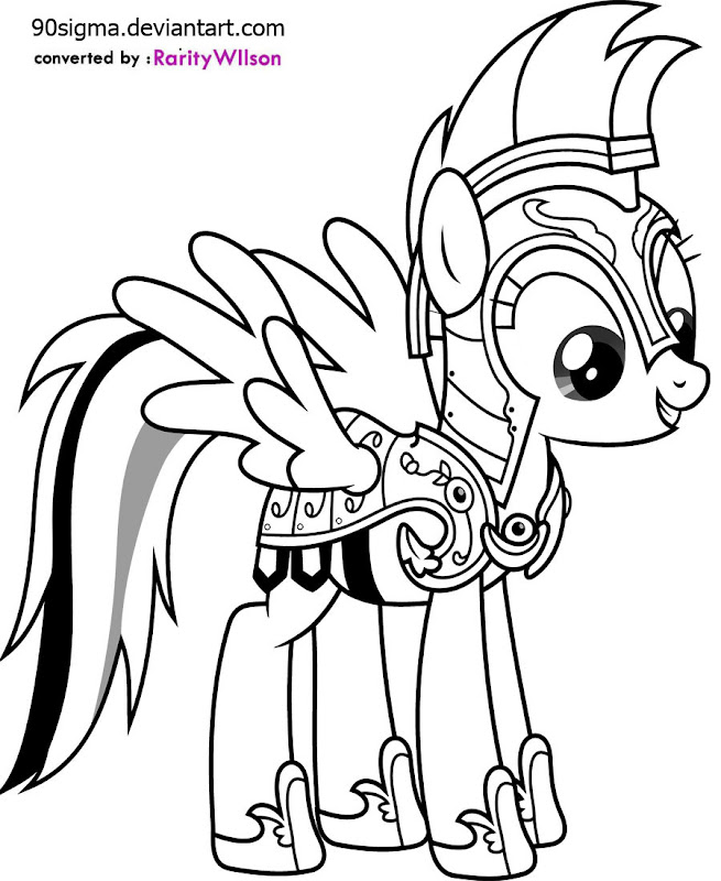 My Little Pony Coloring Pages A4 (12 Image) - Colorings.net