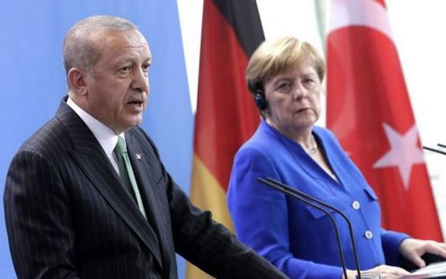 Δυσφορία Ερντογάν στη Μέρκελ για την Ανατολική Μεσόγειο