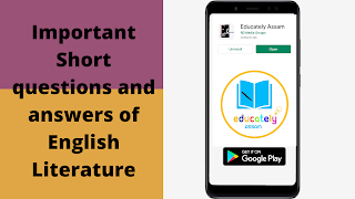 Important Short questions and answers of English Literature