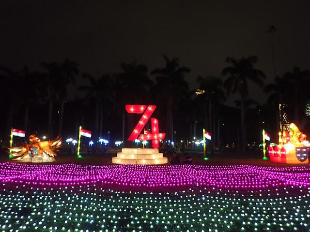 hut ri ke-74, festival di monas