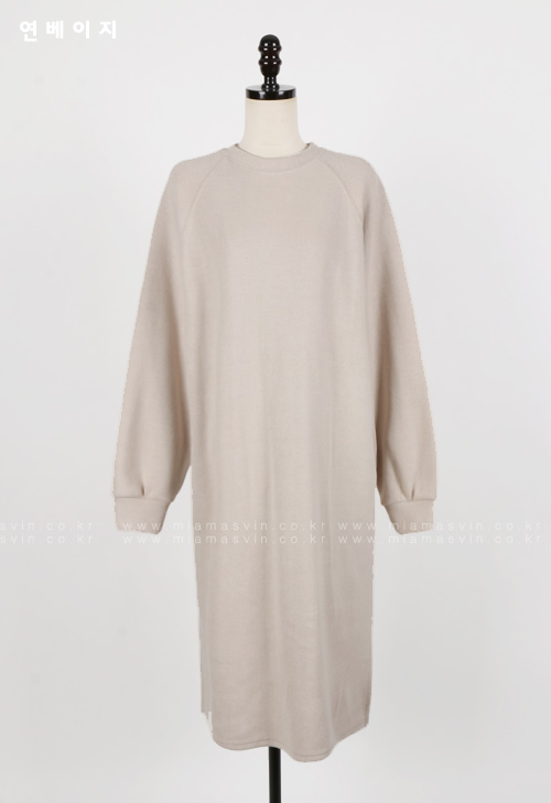 Plain Raglan Sleeve Midi Dress