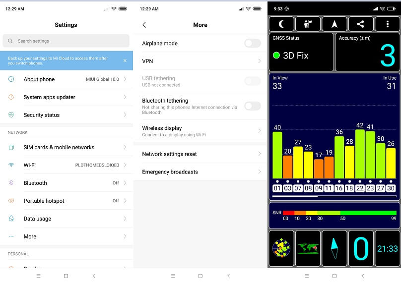 Xiaomi Mi 8 Lite Network Settings and GPS Test