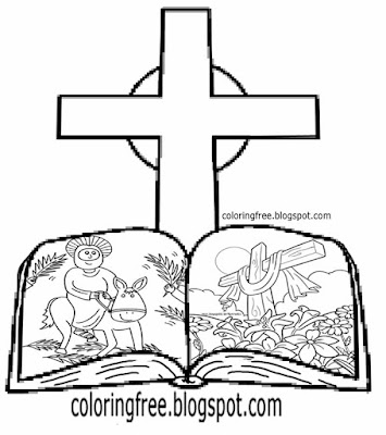 Holy cross clipart for kids Sunday school Easter story book pictures bible coloring Jesus drawings