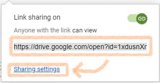 Cara mendapatkan link file yang akan dibagikan di Google Drive