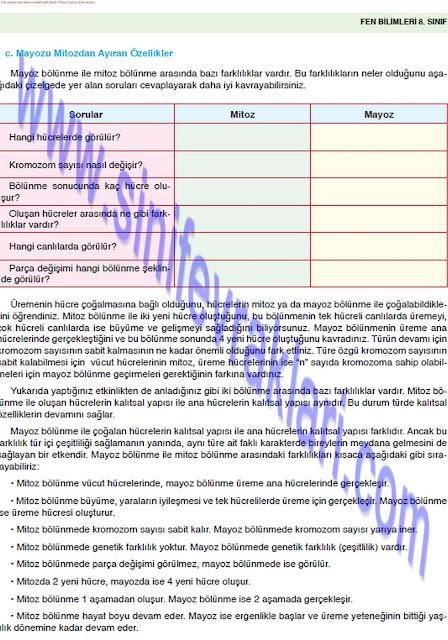 8. Sınıf Fen Bilimleri Ders Kitabı Cevapları Öğün Yayınları Sayfa 27
