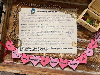 Store up heavenly treasures devotional for kids and preschoolers