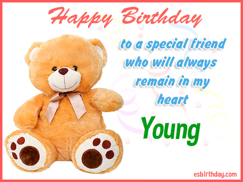 Young Happy birthday friend