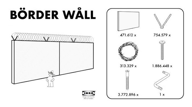 Funny IKEA Border Wall picture