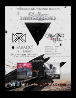 Concierto de The Sweet Metal Band, Crawling From Hell y The Great Destroyer X en Sala Republik