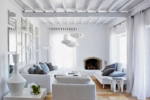 salón mediterraneo blanco