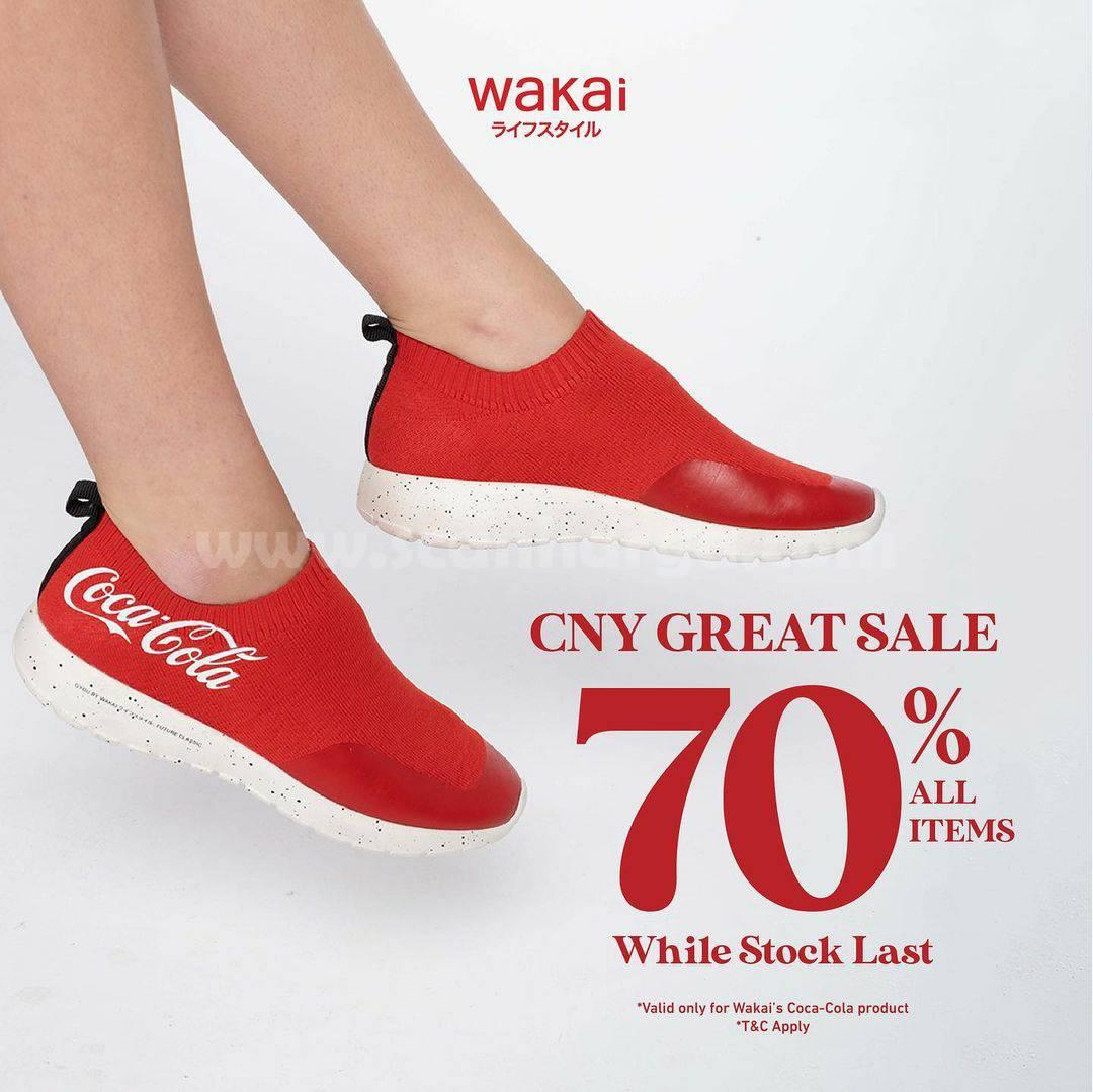WAKAI Promo Special IMLEK! CNY GREAT SALE 70% All Items