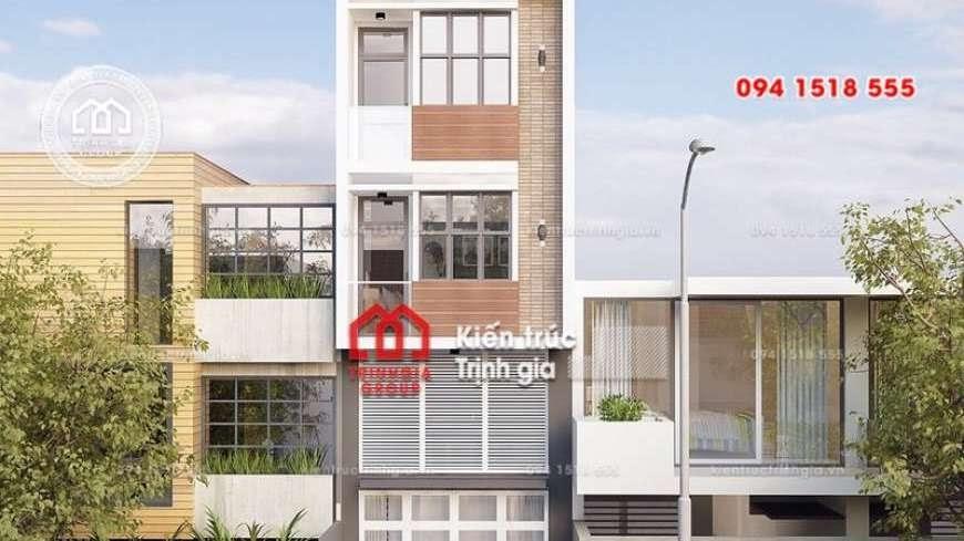 Bản vẽ mẫu thiết kế nhà phố mặt tiền 4m kết hợp kinh doanh - Mã số NP1333 - Ảnh 4