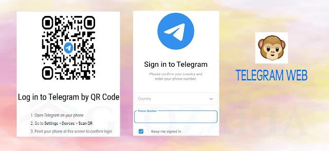 Cara Login Telegram Web Menggunakan Scan Kode QR dan Nomor HP di PC dan Laptop