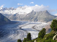 Image of Altesch Glacier in Switzerland, largest in Europe, on Blog Post of Top Ten Tuesday from Extra Ink Edits, Writing Consultancy and Provider of Professional Editing Services