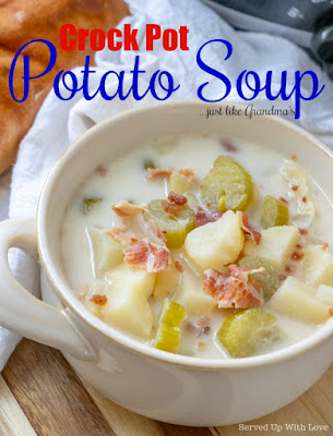 Crock Pot Potato Soup recipe from Served Up With Love