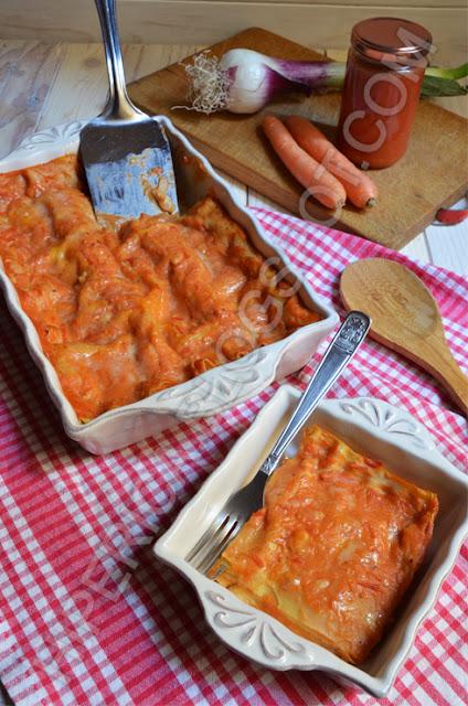 hiperica di lady boheme blog di cucina, ricette gustose, facili e veloci. Lasagne al forno con sugo senza carne