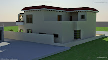 3d Front Beautiful Mediterranean House