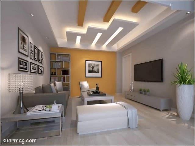 اسقف جبس بورد للصالات مستطيلة 6 | Gypsum Ceiling For Rectangular Halls 6